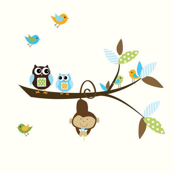 Superb monkey and branch etsy