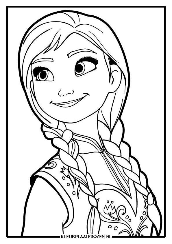 Gratis Kleurplaten Elsa En Anna.Anna Kleurplaat Cindy Nicolai Frozen Coloring Coloring Pages