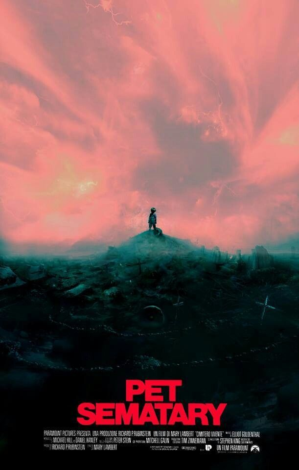 Pet Sematary (1989) Poster art by Christopher Shy Pet