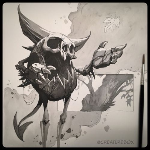 CreatureBox • Inktober Day 6: As the first leaf fell, the...