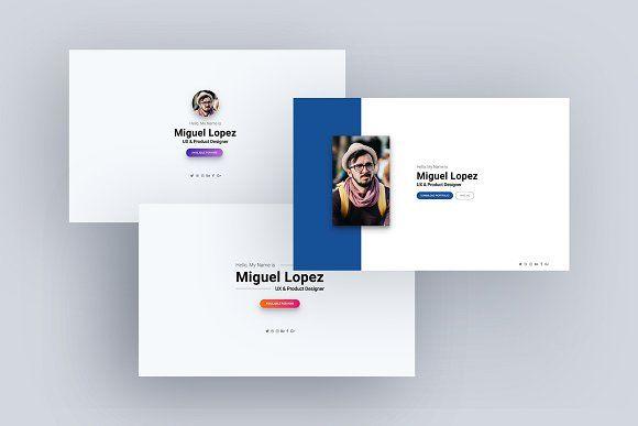 Personal Website For Multi Purpose Website Template Design Personal Website Card Design