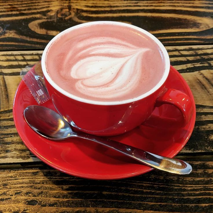 This Sinful Red Velvet Latte Is The Perfect Indulgent Treat That Can Also Double As An Afternoon Pick Me Sweet Coffee Drinks Coffee Drink Recipes Sweet Coffee