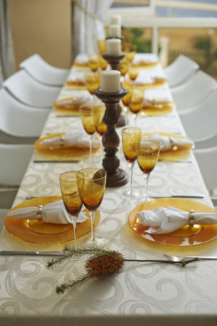 Amber Decor for your Event Table!