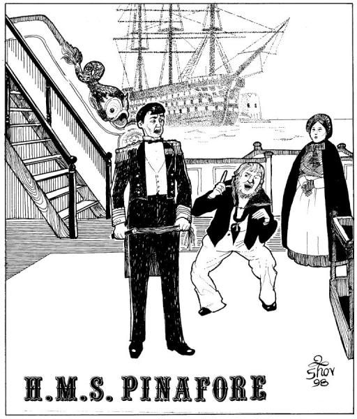 h m s pinafore illustration - Google Search