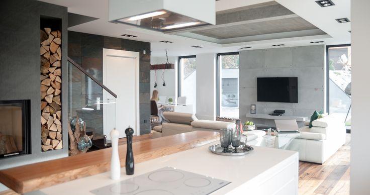 foorni.pl   salon otwarty na kuchnie, projekt: Ewa Weber - Pracownia Projektowa