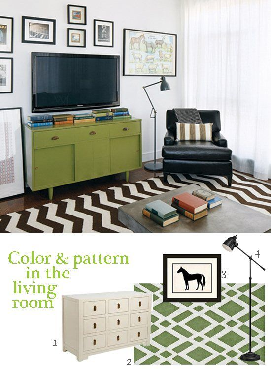 Small Space Decorating with Color in the Living Room - designed by Stephanie Sabbe