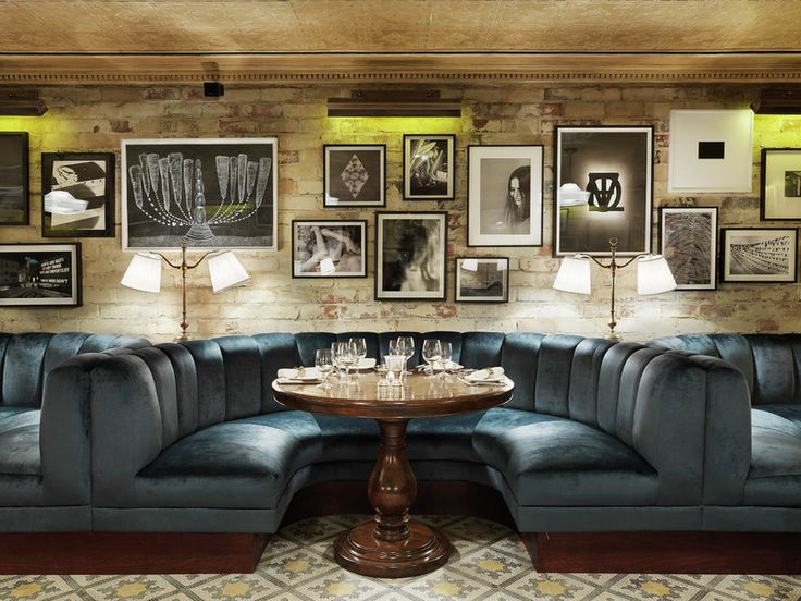 Little House, Mayfair, London.  A very handsome take on 'the booth.' BellaRusticaDesign.com