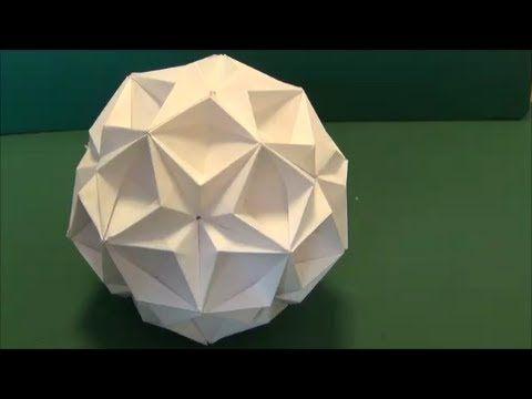 """▶ 「元気玉」折り紙""""Spirit Bomb""""origami - YouTube"""