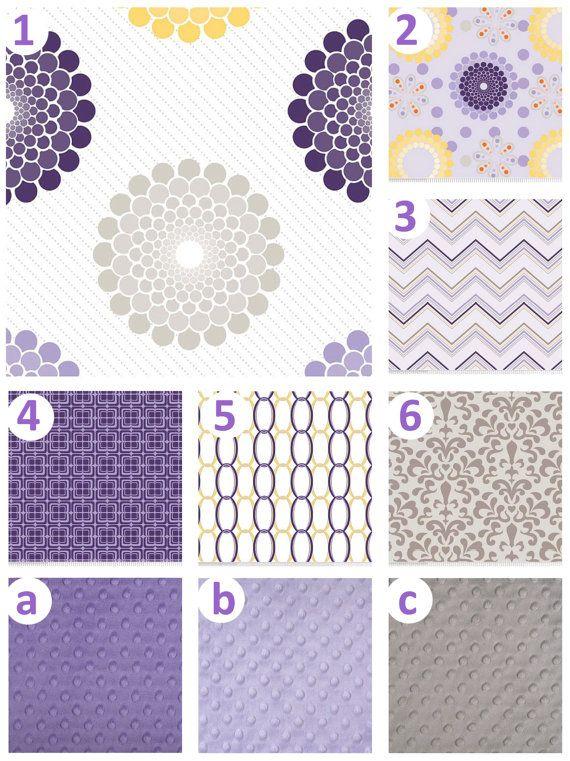 Lavender yellow nursery : Purple and yellow crib bedding sets