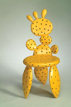 playful cactus chair.  not sure about the color though.  I want mine in green and purple