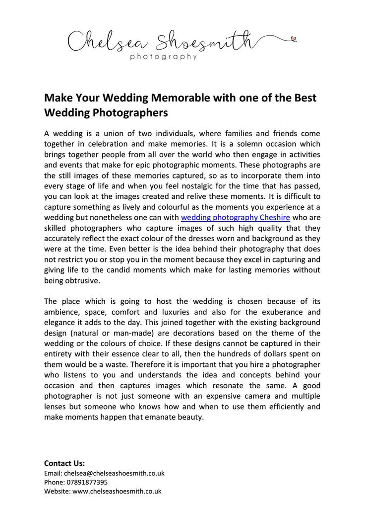 Make your wedding memorable with one of the best wedding photographers