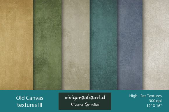 Old Canvas Textures III by ViviGonzalezArt on Creative Market