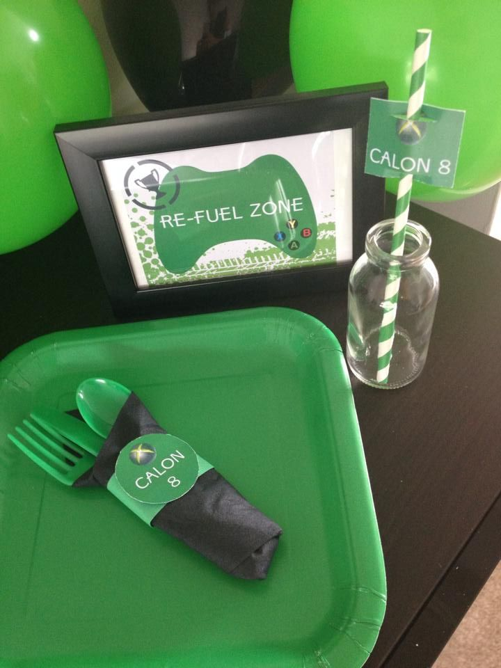 Fuel Zone.  Xbox Theme Party Printables