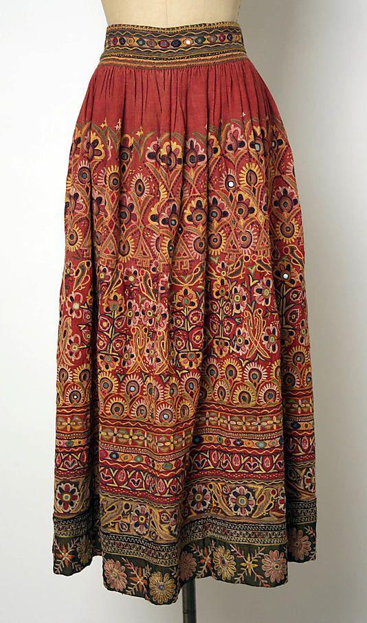 Skirt Date: 20th century Culture: Indian Medium: cotton Dimensions: [no…