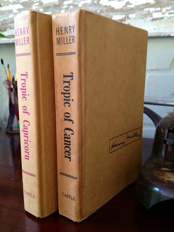 Tropic of Cancer and Tropic of Capricorn Books, via Etsy