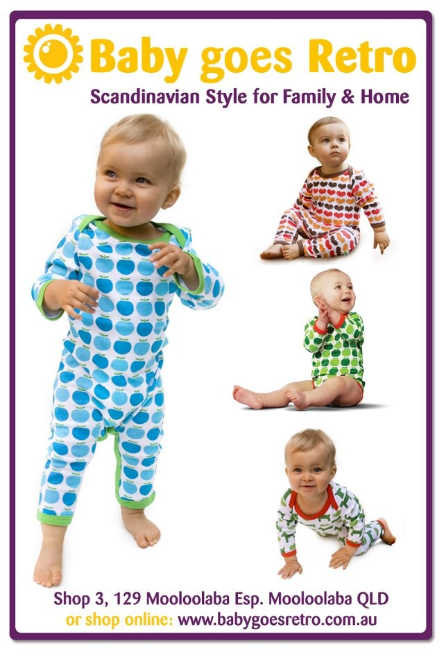 Baby Goes Retro  Garment of your choice from the Sture & Lisa organic collection', value $22.50-$39  To Enter Repin Each Prize You Would LIke To Win onto your Pinterest Page Then click on this photo x 2 to take you to the Facebook page to enter You Must Be Able To Pick Up Your Prize At Market on 24th March To Enter