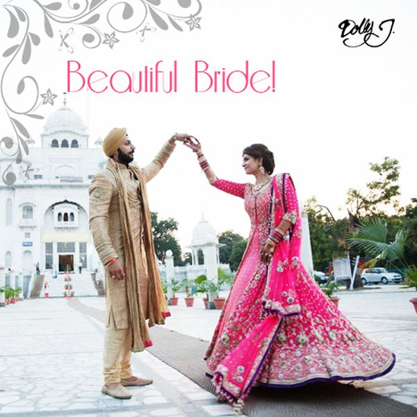 It's a pleasure to craft the outfit for the most important day in a woman's life and make a Beautiful Bride. Showering blessings for Sukhna and Shammi from Dolly J. #BeautifulBride #DelhiWedding #BestWeddingDress