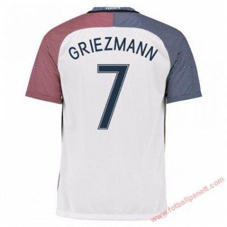 Frankrike 2016 Antoine Griezmann 7 Bortedrakt Kortermet.  http://www.fotballpanett.com/frankrike-2016-antoine-griezmann-7-bortedrakt-kortermet-1.  #fotballdrakter