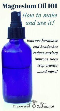 Magnesium Oil for Migraines Recipe