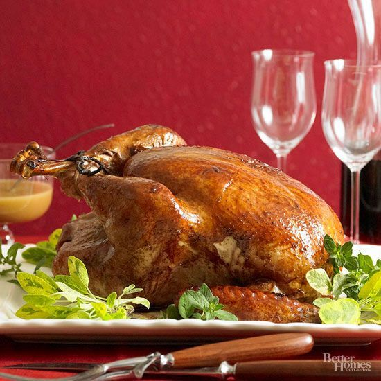Sweet and tangy mingle in a gorgeous turkey that's brined for incredible flavor.