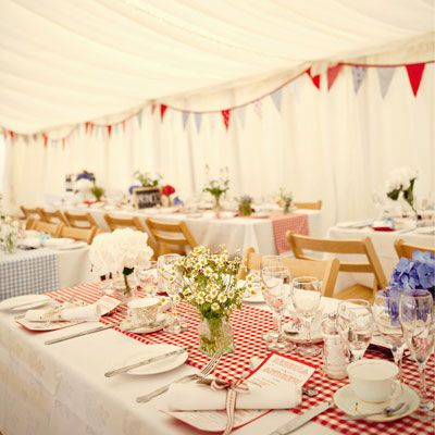 marquee with #bunting