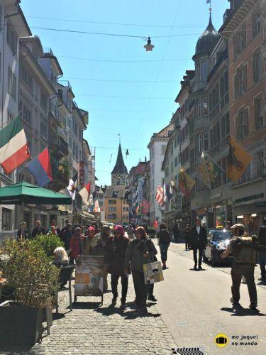 Rennweg, uma das ruas mais famosas de Zurique