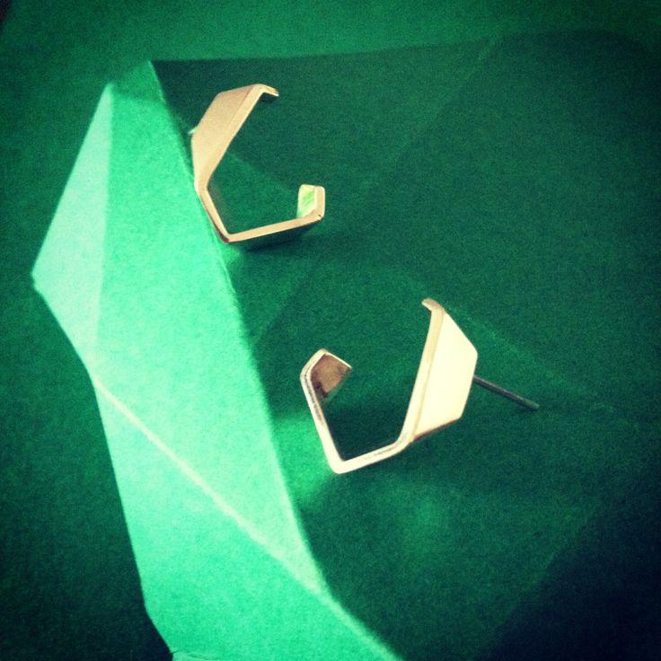 Rough Cut Stone Earrings