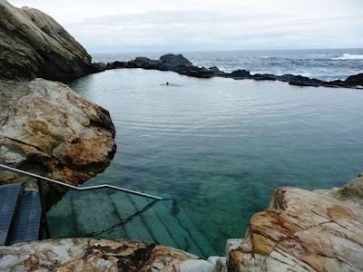 The Blue Pool at Bermagui, NSW.  ocean rock pool.