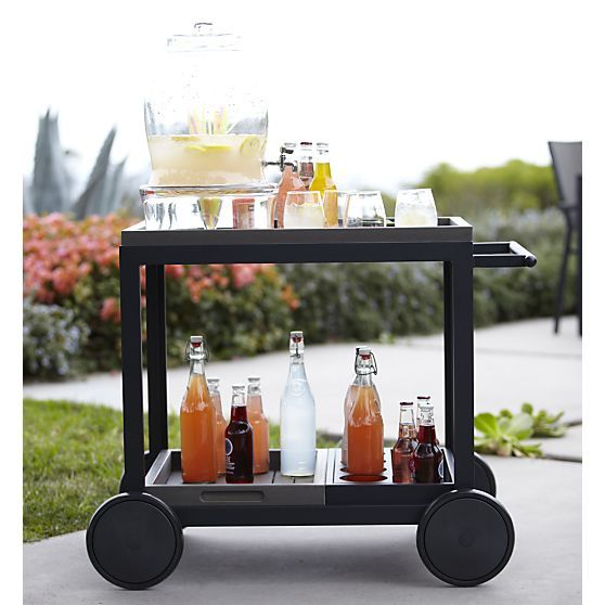 Alfresco Grey Cart in Garden, Patio | Crate and Barrel
