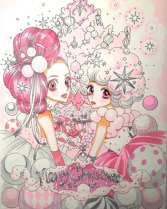 シュガルンからのクリスマスプレゼント、安野モヨコも色を塗りました!メリー・クリスマス!  #シュガシュガルーン #sugarsugarrune #魔界女王候補生…