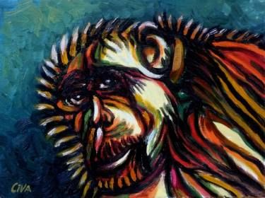 "Saatchi Art Artist Dan Civa; Painting, ""Chimpanzee portrait (chimp 10)"" #art"