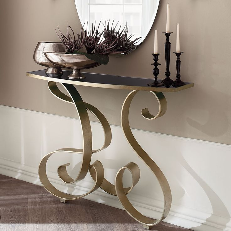 Mirò wrought iron console table - ARREDACLICK