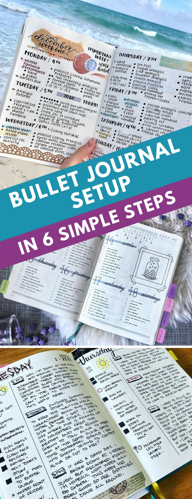 Bullet Journal Setup - Find out how to set up your Bullet Journal so that you can free your mind from trying to remember all of those lists and responsibilities and focus on getting things done! #bujo #bulletjournal #planner