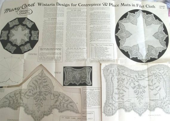 Mary Card filet crochet chart number 65 di sarasellsvintage