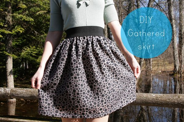 DIY Easy Gathered Skirt - Pearls and Scissors