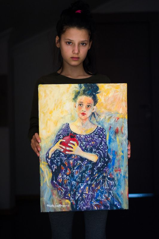 Ulyana's daughter and her portrait