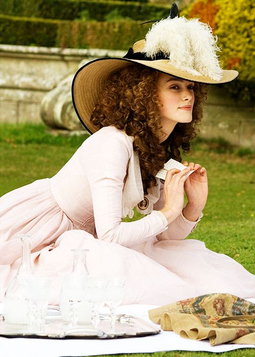 Georgiana Cavendish, Duchess of Devonshire - Keira Knightley in The Duchess, set in the late 18th century (2008).