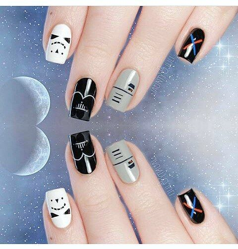These Star Wars Nail Art Looks Embrace Both the Dark and Light Sides - Best 25+ Star Wars Nails Ideas On Pinterest Diy Nails Tutorial