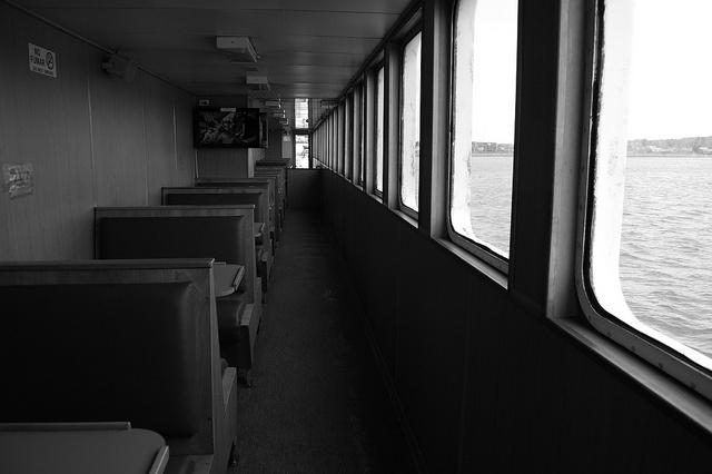 en transbordador, camino a Chiloé mágico