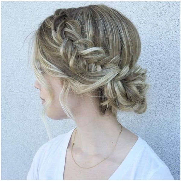Loose wavy bun. (Elstile) Thick flipped braid. (Salon Couture) Twisted & textured side bun. (The White Hair & Beauty Co) Swirly bun. (The Hair Fairy) Elegant a…