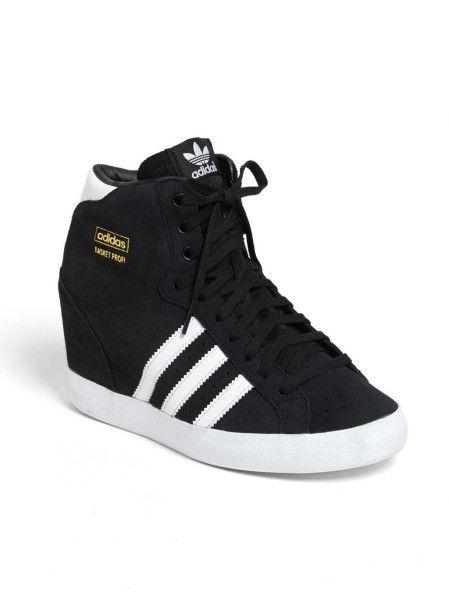 Adidas Black Basket Profi Hidden Wedge Sneaker