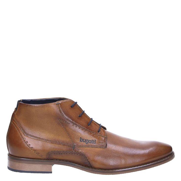 Bugatti heren hoge nette schoenen cognac