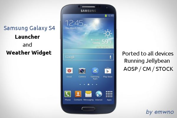 Samsung Galaxy S4: TouchWiz, Weather widget, Sounds and S-Apps ported for every Android devices