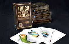 TRUCO ARGENTINO ILUSTRADO Naipes estilo español ilustrado con objetos y personajes argentinos. http://charliechoices.com/truco-argentino-ilustrado/