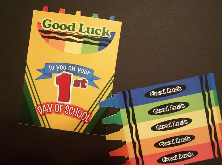 Crayons theme 1st day cards