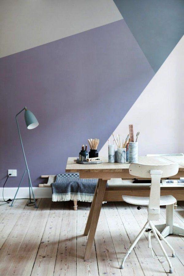 Pastell Wandfarben farbpalette farbgestaltung wanddeko geometrisch