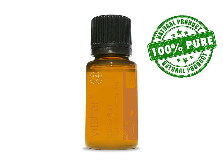 Clove Bud 100% Pure and Natural Essential Oil by Yitshar - 15 ml - Relieves Symptoms of the Common Cold and Flu such as Fever, Fatigue, Phlegm. Fights Bacteria and Germs. Alleviates Symptoms from Ailments such as Bronchitis, Arthritis, Toothaches, Sprains, Rheumatism. >>> Check out this great image  : pure essential oils