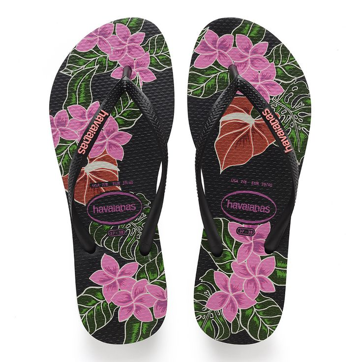 Havaianas Slim Floral Sandal Black  Price From: 35,38$CA  https://flopstore.ca/ca_french/new-arrivals/havaianas-slim-floral-sandal-black.html