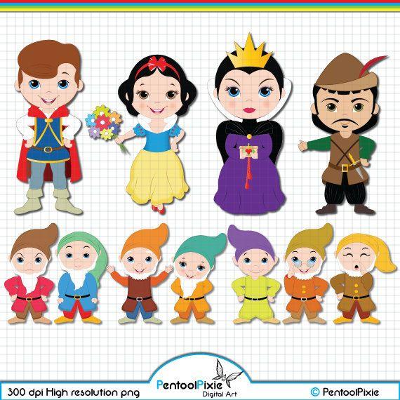 Snow White and the Seven Dwarfs Clipart Snow White Clipart