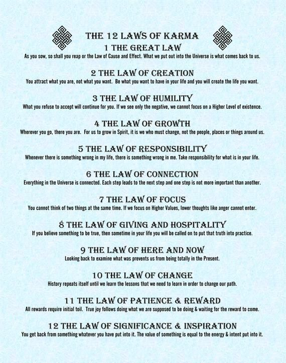 14+ The 12 laws of karma list inspirations
